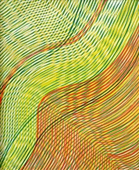 floating red by stanley william hayter