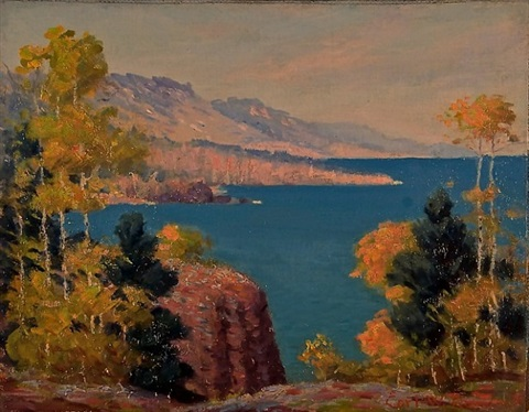 lake superior shoreline by carl wendell rawson