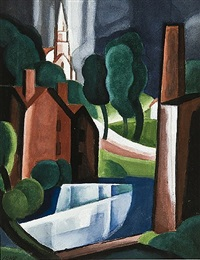 new hampshire town by oscar florianus bluemner