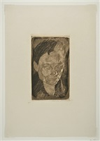 head of a woman by käthe kollwitz