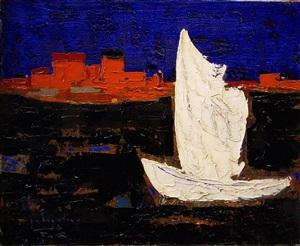 voile blanche mer noir by paul vanier beaulieu
