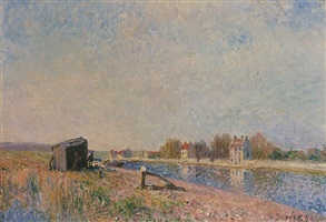 the loing at st mammès by alfred sisley