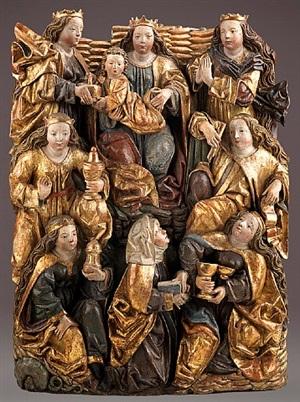 madonna im kreis heiliger frauen by christoph von urach