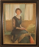 portrait of a lady (elizabeth a. alexander) by john white alexander