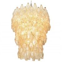 grand polyhedral chandelier by carlo scarpa for venini by carlo scarpa
