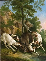boar hunt by jean-baptiste oudry