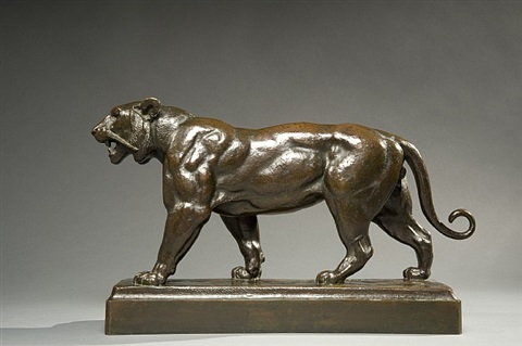 striding tiger by antoine-louis barye