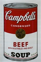 campbell's soup (beef with vegetables and barley) by andy warhol