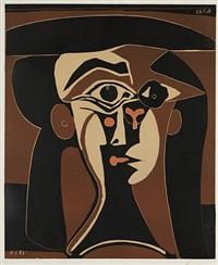 jacqueline au chapeau noir by pablo picasso