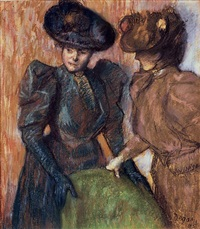 la conversation by edgar degas