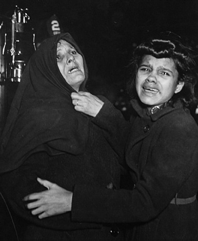 tenement fire by weegee