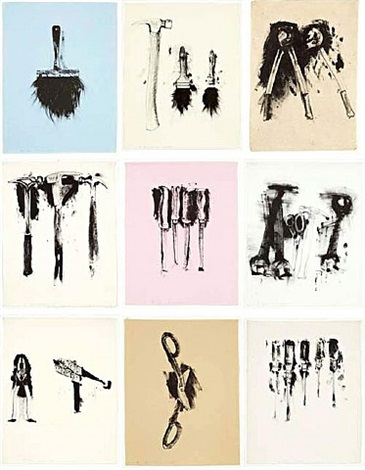 untitled tools (portfolio of 9) by jim dine