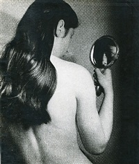 nude with mirror through gauze, 1930s by bill brandt