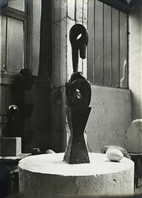 view of the studio: chimera with new born, c.1921 by constantin brancusi