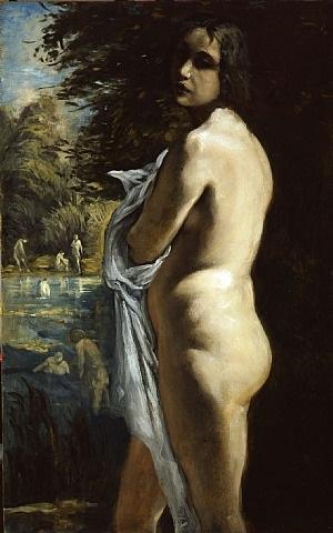 the bather by émile bernard