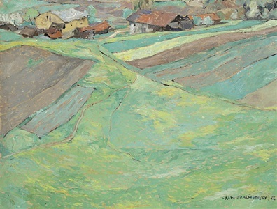 ferrari-meadow near innsbruck by wilhelm nikolaus prachensky