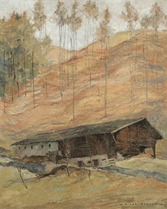 mountain farm by wilhelm nikolaus prachensky