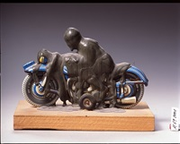 motorradfahrer by dieter roth