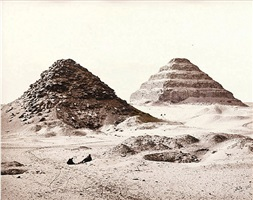 the pyramids of sakkarah from the north east by francis frith