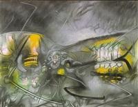 paisaje cósmico (sold) by roberto matta