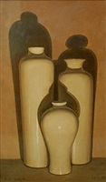 three vases by eliot hodgkin