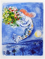 baie des anges (the bay of angels) by marc chagall
