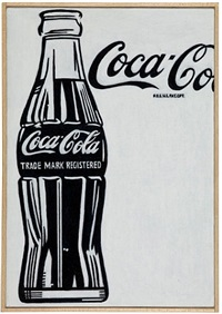 andy warhol, 'large coca cola', 1962 by richard pettibone