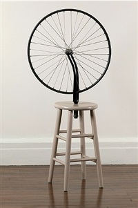 marcel duchamp, 'bicycle wheel', 1913-1964 by richard pettibone