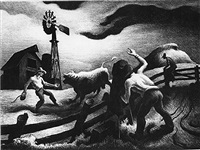 photographing the bull by thomas hart benton