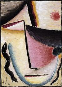 abstrakter kopf: schräge augen by alexej jawlensky
