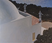 night watch by julio larraz