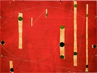 three string etching green point by caio fonseca