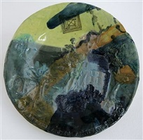 commemorative plate no.27 (death place of abstract art) by grayson perry