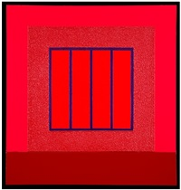 red prison by peter halley