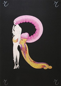 letter r (the alphabet suite) by erté