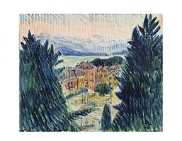 am thunersee, blick gegen die alpen / on lake thun, view of the alps by cuno amiet