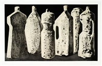 six bottles, large, state 1 by tony cragg