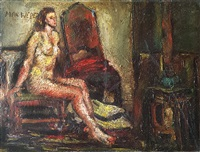 girl on chair by max weber