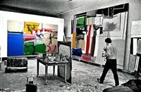 alfred leslie in studio by alfred leslie