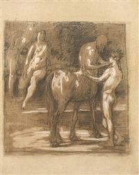 chiron and achilles by hans von marees