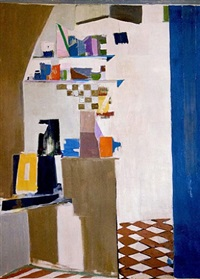 blue kitchen by janice biala