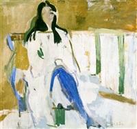 untitled (seated woman) by janice biala