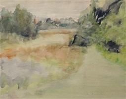 tawny fields by jane freilicher