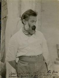 self-portrait (brancusi dans l'atelier) by constantin brancusi