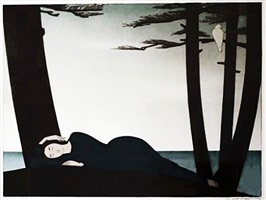 reclining woman by will barnet