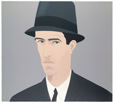 alex katz, self- portrait (passing) by alex katz