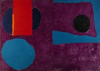 big violet with red and blue by patrick heron