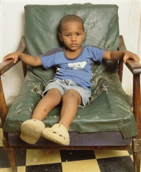 yaikel green chair by andres serrano