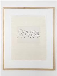 pindar by cy twombly