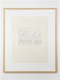 five greek poets and a philosopher - callimachus by cy twombly
